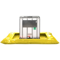 Cubeta de retención flexible 1 contenedor, 950 litros 243 cm x 243 cm x 30,5 cm