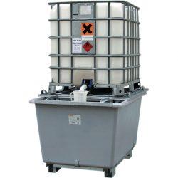 Cubeta de retención de poliéster 1 contenedor, 1000 litros