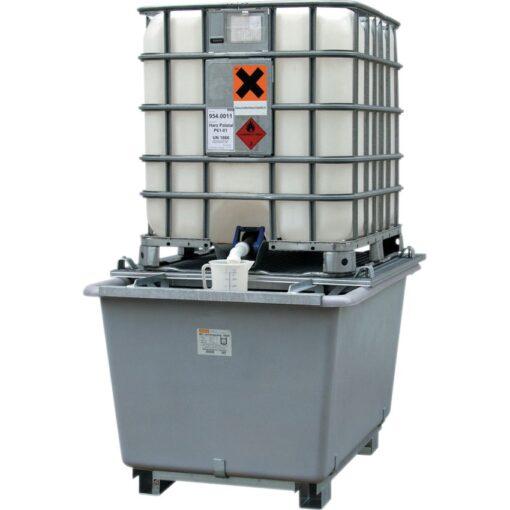 Cubeta de retención de poliéster 1 contenedor, 1000 litros 1