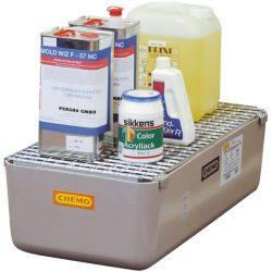 Cubeta de retención de poliéster para garrafas, 65 litros 82 cm x 42 cm x 24 cm