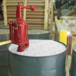 Cubre bidones absorbentes de hidrocarburos. Conserve la parte superior de sus bidones limpia. 200L Ø 56 cm