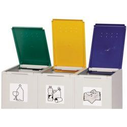 Tapa de plástico color Amarillo para recolectores de plástico 40 L