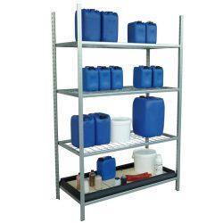 Elemento siguiente para estantería en acero galvanizado para productos corrosivos