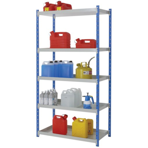 Estantería de seguridad de acero barnizado para cargas ligeras, 115 litros 1