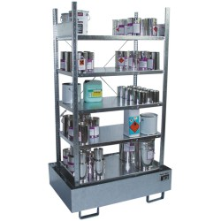 Estantería de retención de acero galvanizado, 220 litros 120 cm x 80 cm x 200 cm
