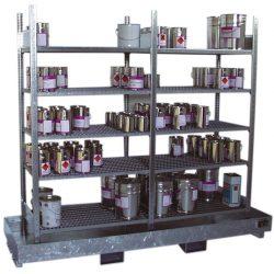 Estantería de retención de acero galvanizado, 220 litros 240 cm x 80 cm x 200 cm
