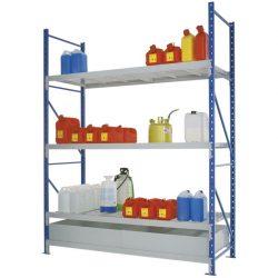 Estantería de retención de acero barnizado para cargas semipesadas, 220 litros 180 cm x 80 cm x 200 cm