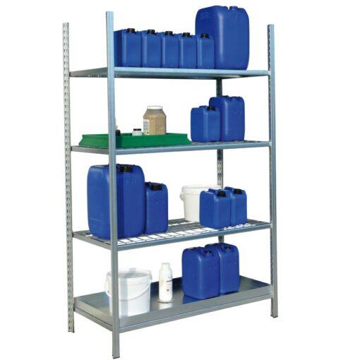 Estantería de seguridad en acero galvanizado para productos inflamables 1