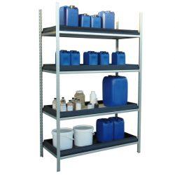 Estantería de seguridad en acero galvanizado para productos corrosivos