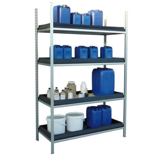 Elemento siguiente para estantería en acero galvanizado para productos corrosivos 1