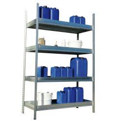 Elemento siguiente para estantería en acero galvanizado para productos contaminantes