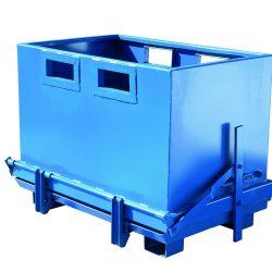 Contenedor volquete con descarga inferior para carretillas elevadoras - 800L | Haleco