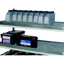 Cubeta de retención para estantería para productos contaminantes