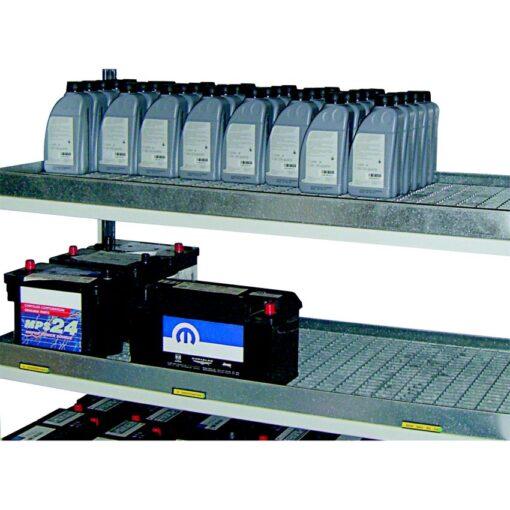 Cubeta de retención para estantería para productos contaminantes 1